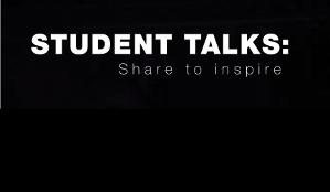 student talks